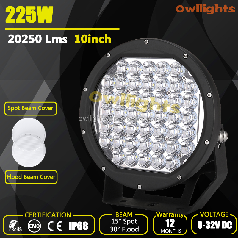auto accessories wholesale distributor,4x4 led lights 9inch10inch round led,arb intensity led spot light 225w led driving lights