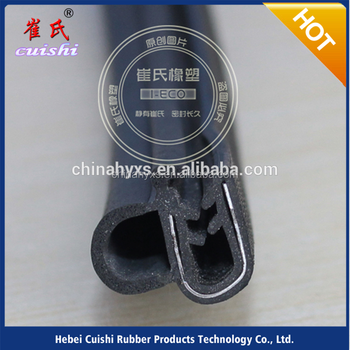 anti tearing epdm automotive rubber strip door seal