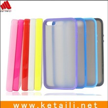 OEM new design soft TPU with hard plastic PC for iphone 5s mobile cover printed design case