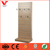 free standing shop wooden slatwall panel gifts display rack