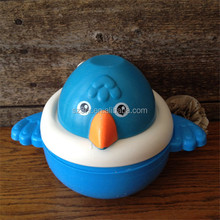OEM supplier make custom safe durable plastic vinyl toy for promotional/customized blue bird assemble bath vinyl toy factory