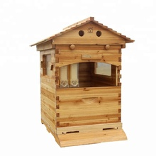 Yijing Fir Wooden Automatic Beekeeping Bee Product Nest Box <strong>W</strong>/ Queen Excluder Honey Flow Bee Hive