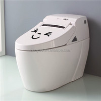 zooyoo305 toilet sticker waterproof customize wall decal clear trasparent vinyl smile face