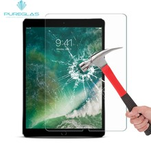 New arrival factory price 0.3mm 2.0D premium Pureglas tempered glass screen protector for iPad Pro 10.5