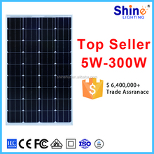 High efficiency 100w monocrystalline silicon solar cells