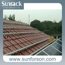 aluminum pv mounting solar slate roof mount