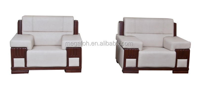 High End Luxury Reception Area Genuine Leather Sofa, hotel lobby furniture FOH-129