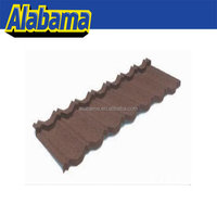 Soncap certificate is available garden house roof tiles, color stone coated metal roof, wave roof
