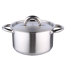18cm 2.4L Stainless steel stock pot 555 soup pot stainless steel cooking pot with stainless steel lid