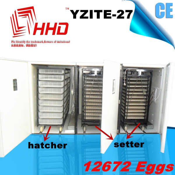 CE Approved Large Capacity chick egg hatch machine with egg turning tray YZITE-27