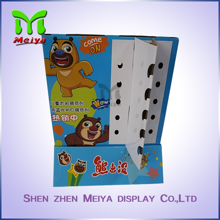 Comfortable new design fabric covered double side counter display with good quality from Chinese factory