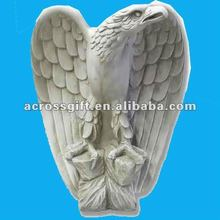 White resin eagle statue