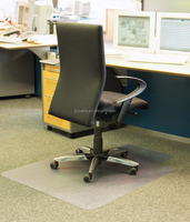 PVC Carpet Flooring Protection Chair Mat with Lip