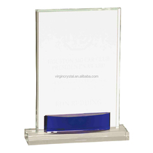 Hot sale customized crystal blank trophy award glass plaque