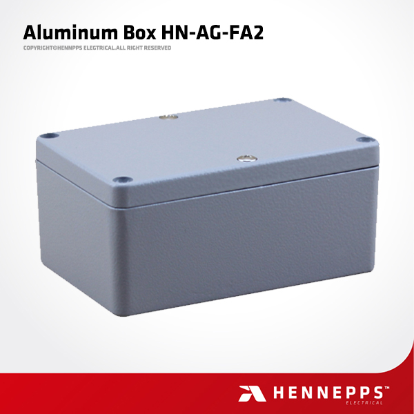 Hennepps 120*80*55 HN-AG-FA2 Aluminum Junction Box IP66 Waterproof Outdoor Aluminum Enclosures for Electronics