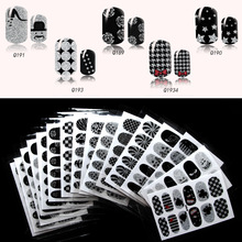 2017 New Japanese black gothic style nail art stickers