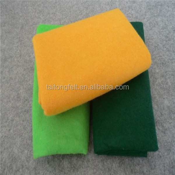 High quality colored needled polyester felt