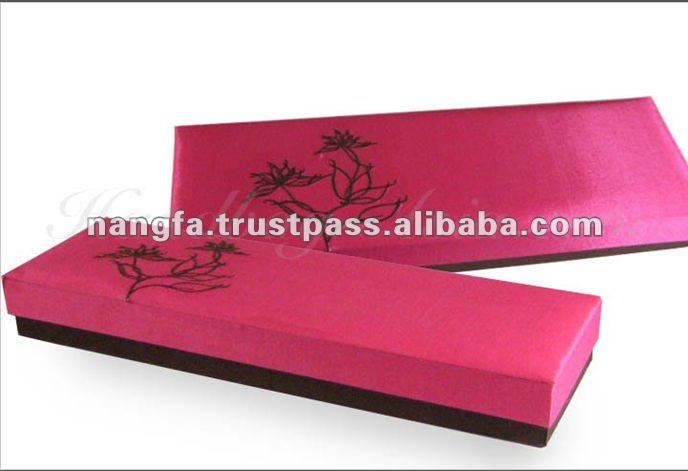 Thailand Lotus Flower Embroidery Silk Box