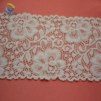 Attractive nylon elastic lace trim/lingerie stretch knitting lace trim