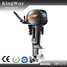 Chinese Short Shaft 2 Stroke 15hp Electric Boat Engine Outboard Motor