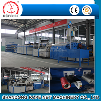 high capacity pp plastic extruding flat film stretching line