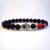 SN0290 Hamsa Fatima Hand bracelet Red Turquoise Good Luck Lava Rock Stone Bracelet Men