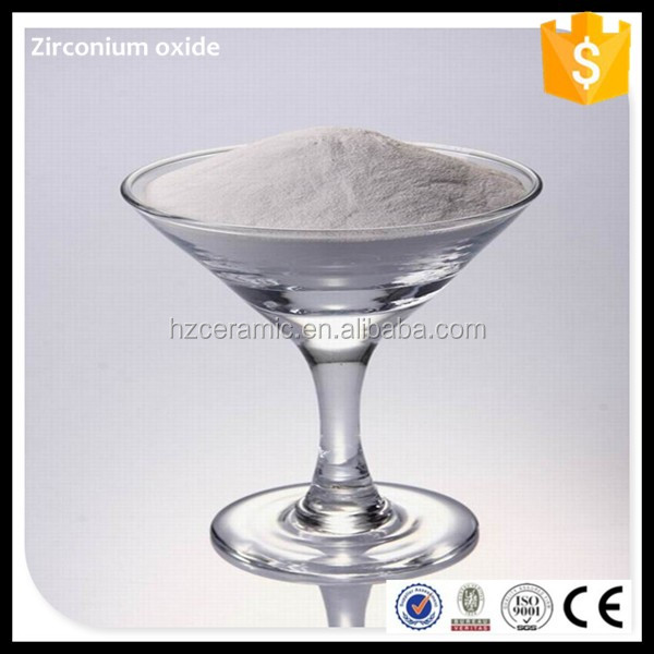 high purity 99.5% ZrO2 chemicals used in medicines powder
