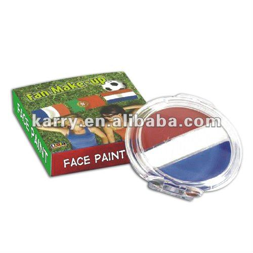 TRI-COLOR *** RED WHITE BLUE*** FACE BODY PAINT WHEEL Sports Fan OR HALOWEEN