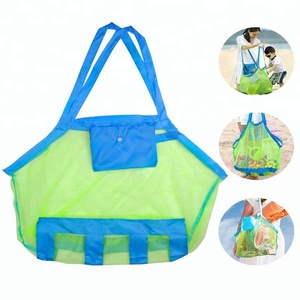 Shell Bags Mesh Beach Bags Breathable Toy Storage Bag,SeaShell Bags with Carrying Straps,Large Capacity