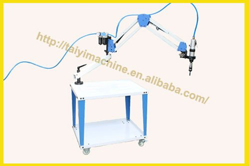 pneumatic threading machine with measurable universal head