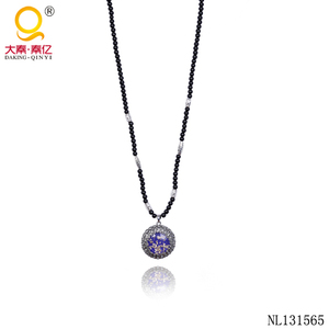 Cheap jewelry designs glass beads pendant necklaces