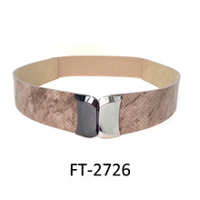 snake grain pu waist belt- fashion wide belt- women dress belt FT-2726
