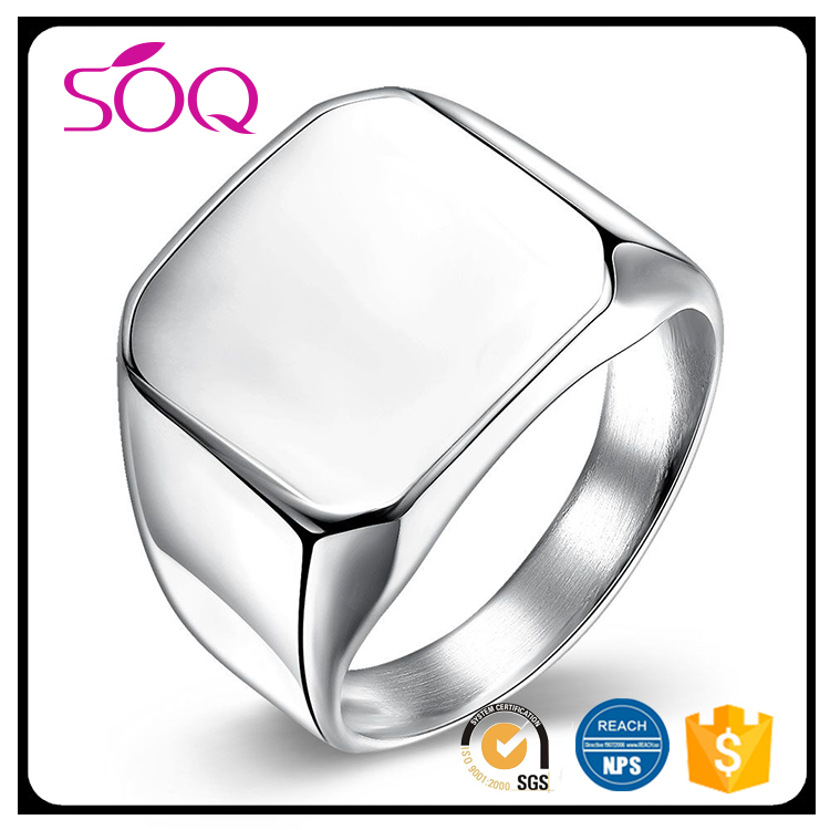 2017 Alibaba Fashionable Stainless Steel Silver Color Jewelry Cool Ring for Men Jewelry