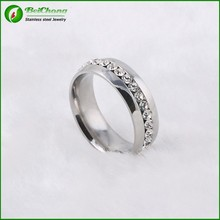 Modern design factory customed unique changeable diamond ring , cheap wholesale stainless steel ring