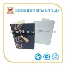 Luxury fashionable wedding invitation cards with bowknot
