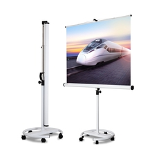 2016 new office equipment 79 inch Mobile Projection Screen