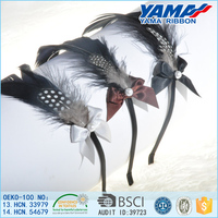 Factory direct manufacturer cute feather pearl hairband