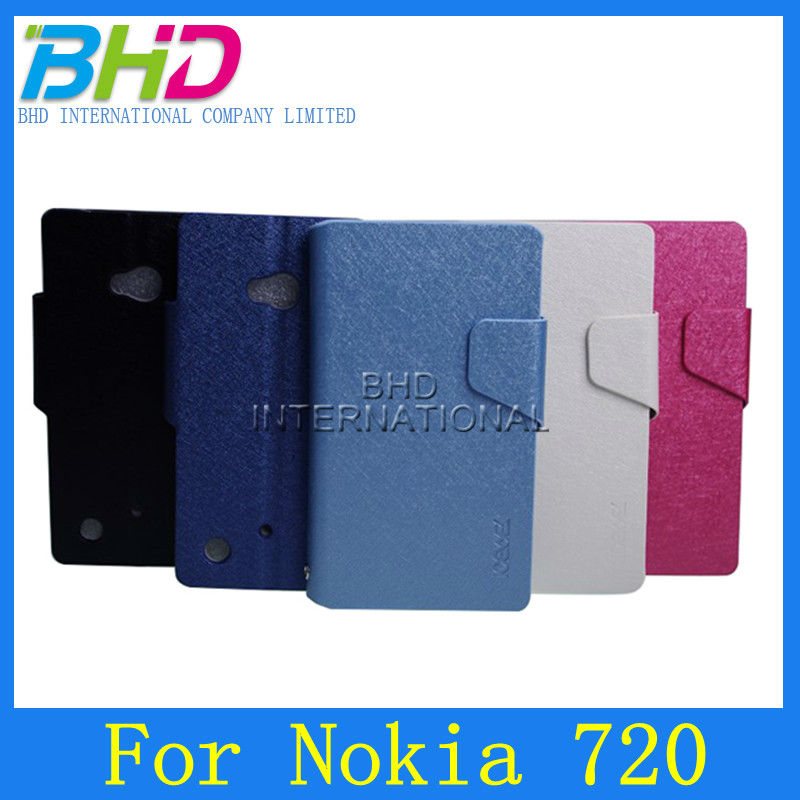 Wallet Cover Flip Leather Case for Nokia Lumia 720