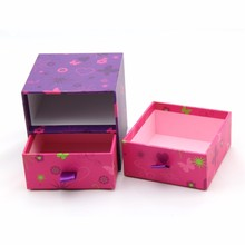 Two layers small draw box cardboard storage gift box supplier