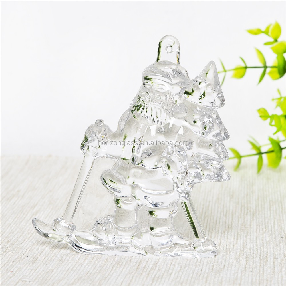 home ues decor glass arts for christmas decoration