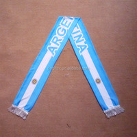 Custom Fabric Logo Fan Scarf Argentina