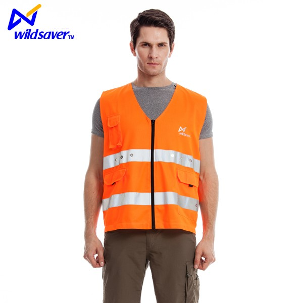 100% polyester mesh fabric motorcycle reflective led safety vest