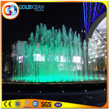 Glass Color Square Shape Pool Fountain Water Fun Products