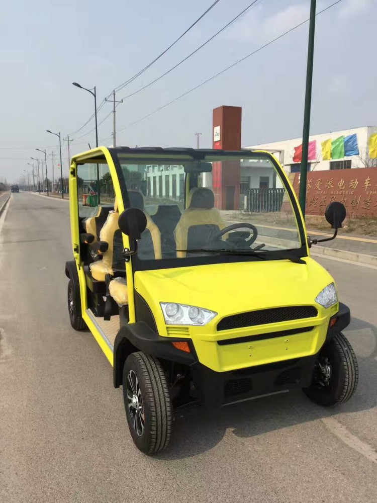 yellow 3kw motor 60V120AH battery electric car