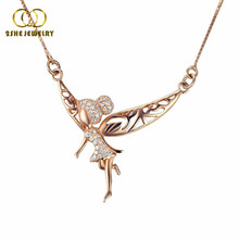 High quality 925 sterling silver beautiful jewelry necklaces for lady