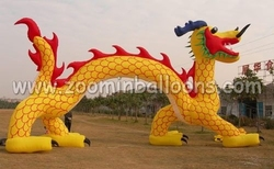 2015 customized 33ft inflatable arch,golden dragon archway N4006