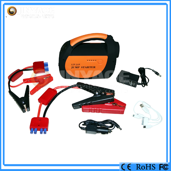 auto roadside emergency kits jumper cable 800a car jump starter 28000 mah 24v truck battery charger