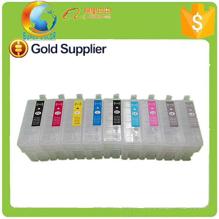 2015 New Invent good Wholesales Inkjet Cartridge for Epson Surecolor P600 printers
