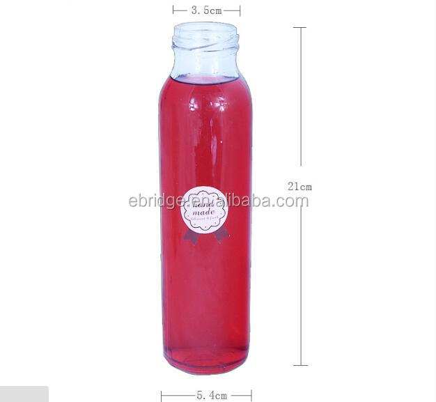 custom logo printing carbonated beverage glass bottle 300ml, mineral water bottle