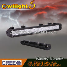 OWLLIGHTS Newest 22.3'' 120W 9~32v Cree led light bar for truck ,led driving light bar for marine mining heavy duty car